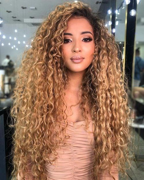 Long hair blonde screaming curly