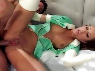 Bukkake pigtails girl strapon